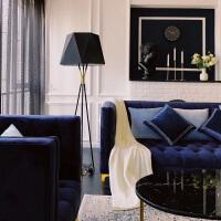 【品牌特惠】简约现代客厅卧室书房灯具北欧样板房创意布艺灯罩三脚落地灯