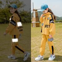 女童运动套装春秋款秋装儿童中大童洋气时尚两件套潮