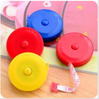 家居必备 创意糖果色可伸缩塑料卷尺 皮尺量衣尺软尺 颜色随机发