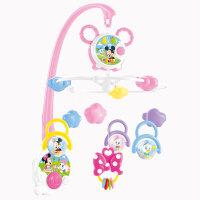 婴儿玩具床铃音乐旋转挂饰新生儿童玩具摇铃 米奇床头铃绕床挂男孩女孩0-1岁礼盒 米奇音乐安抚床铃