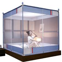 新款蚊�と��_�T拉�方�坐床式蒙古包公主�L1.5米1.8m床�p人家用