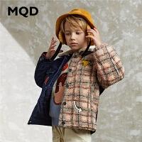 MQD童装男童棉衣20新款冬装加厚儿童韩版牛仔