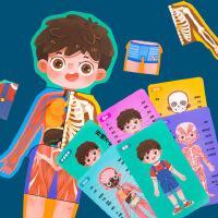 益智玩具 智力开发 朵莱 身体结构拼图 人体认知拼图男女孩儿童安全教育木制益智玩具男孩款