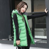 棉马甲女中长款韩版2018新款秋冬时尚羽绒棉马夹修身显瘦背心外套