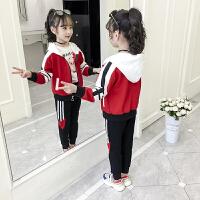 2019新款儿童运动洋气时髦卫衣女孩童装中大童女童秋装套装