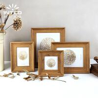 木制艺术相框 北欧立体相框摆台4寸6寸7寸10支架创意照片相架实木质感唇印像框BB