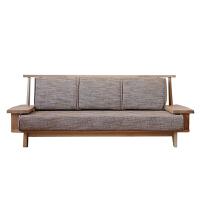 【品牌特惠】北欧实木布艺沙发现代简约小户型三人组合客厅家具可拆洗 组合