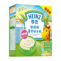 【当当自营】亨氏 Heinz铁锌钙营养奶米粉超值装400g(辅食添加初期至36个月)(利来国际ag手机版电话:010-5799256