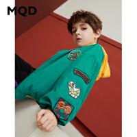MQD童装男童外套夹克2019春秋季新款棒球服上衣休闲韩版卡通上衣