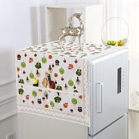 家用西门子冰箱盖布冰箱罩防尘罩单开门双开门棉麻冰箱巾卡通