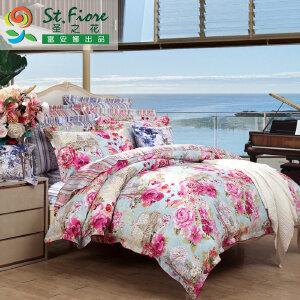 [当当自营]富安娜家纺纯棉四件套1.5米1.8米床印花套件 美丽人生 粉色 1.8m