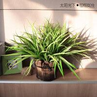 仿真植物假植物绿植室内外装饰木桶盆栽小绿萝盆栽仿真花草植物