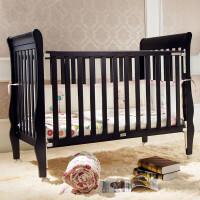 婴儿床实木环保白色多功能宝宝床游戏床童床新生儿宝宝床EVAzf08 英国紫黑色