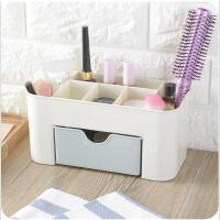 多功能桌面办公抽屉式收纳柜化妆品收纳盒厨房浴室可爱塑料简易组合收纳盒