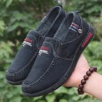 老北京布鞋夏季帆布鞋男士休闲鞋软底布鞋休闲爸爸鞋透气低帮鞋子
