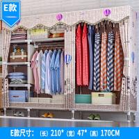 简易衣柜钢架布衣柜钢管加粗加固双人组装布艺衣橱收纳柜经济型g 2门