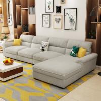【品牌特惠】布艺沙发简约现代小户型可拆洗实木北欧乳胶沙发客厅整装家具