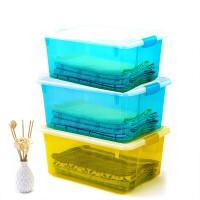 茶花加厚塑料收纳箱衣服玩具塑料整理箱大中小号储物箱周转箱