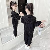儿童洋气时髦运动童装小女孩卫衣两件套2019秋季新款韩版女童套装