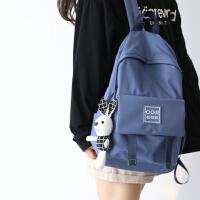 NR日系学院风双肩包女2019新款时尚书包女韩版高中大学背包女双肩