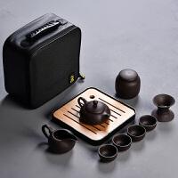 紫砂旅行茶具套装便携包家用简约日式小茶具迷你茶杯户外一壶四杯