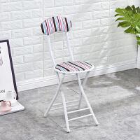 简易布艺靠背折叠椅便携户外折叠凳餐椅电脑椅子凳子家用圆凳