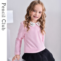 【2件3折价:59.4元】铅笔俱乐部童装女童长袖T恤娃娃领儿童翻领上衣公主2021春秋新款