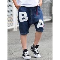 儿童五分裤中大童装裤子男孩中裤薄款夏季外穿潮男童夏装牛仔短裤