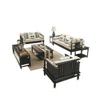【品牌特惠】新中式沙发现代中式简约客厅实木布艺沙发禅意组合复古家具