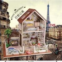 学生手工玩具房子拼装建筑模型女孩生日礼物公主玩具手工娃娃屋过家家8-9-10岁玩具