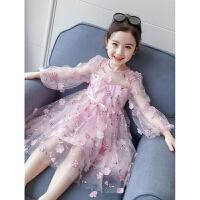 儿童蓬蓬纱裙子女宝宝童装夏装公主裙春装新款洋气女童连衣裙