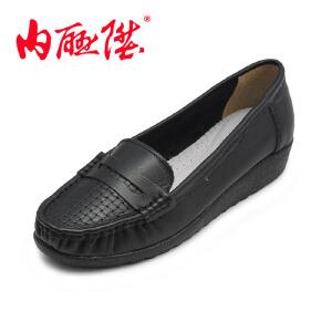 内联升 女鞋布鞋・牛皮女皮鞋 春秋 时尚休闲 老北京布鞋 5979-1