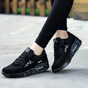 【3折封顶/再满150减20】奇安达女士慢跑鞋2017新款女款气垫减震运动休闲跑步鞋慢跑鞋增高鞋