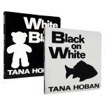 顺丰发货 吴敏兰推荐绘本123英文原版绘本 Black on white white on black 2本套装 纸板