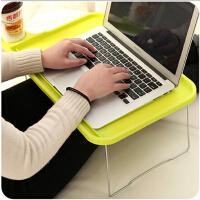 床上用桌塑料电脑桌 笔记本折叠桌懒人桌月子餐桌