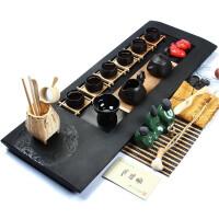 尚帝 藏玉乌金石-(龙图腾)紫砂茶具茶盘套装BH2014-037A