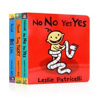 英文原版绘本Leslie Patricelli系列3册合售Yummy Yucky Big Little No No Y