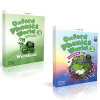 新APP版4-12岁牛津自然少儿拼读教材 Oxford Phonics World L3 Student Book+Workbook with APP Code [学生用书+练习册+APP]