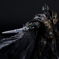 魔兽世界 巫妖王 has阿尔萨斯 死亡骑士手办模型人偶玩具 炉石传说