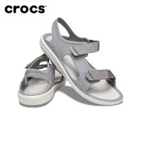 Crocs休闲女鞋 卡骆驰夏季激浪探险女沙滩平底凉鞋 206527