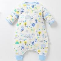 宝宝睡袋 防踢被婴儿睡袋春夏季薄款单层可拆袖睡袋春夏宝宝睡袋分腿式儿童防踢被wk-44