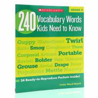 英文原版Vocabulary Words Kids Need to Know Grade 4 四年级孩子需要知道的24