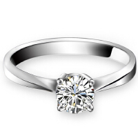 梦克拉 PT950金钻石戒指结婚女戒 心随意动 钻戒单戒心形女款40分 可礼品卡购买