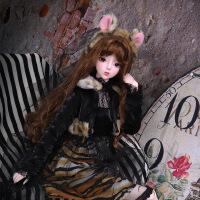 【2件5折】芭比娃娃 新年礼物 精品 德必胜娃娃 十二生肖系列60cm改装娃娃仿真玩具公主bjd换装洋娃娃 虎-琥珀