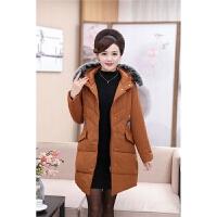 新款冬季中年加厚棉衣中老年女�b中�L款羽�q�����b40�q50外套