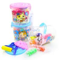 桶装10色彩泥套装 宝宝幼儿童手工橡皮泥彩色模具套装 益智玩具