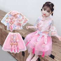 女童汉服夏季儿童中国风古装唐装三岁女宝宝襦裙两件套装