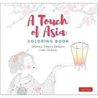 预订A Touch of Asia Coloring Book:Serenely Elegant Designs fro