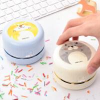 得力迷你桌面吸尘器吸橡皮屑橡皮擦小型清洁学生便携自动清理灰尘