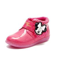 鞋柜童鞋 冬款卡通魔术贴粉色公主女童短靴-tt